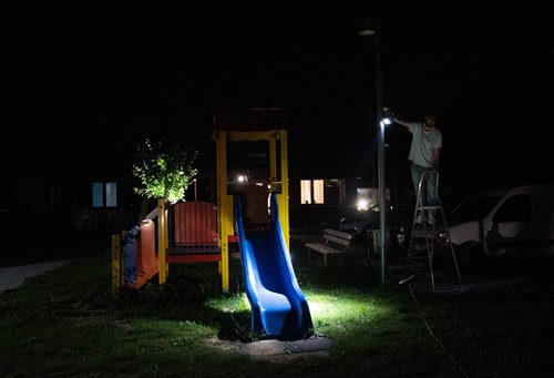 The 'social' lighting design of Emergency Living Solution villages in Arquata
