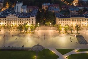 La place Lukiškės, la place principale de Vilnius