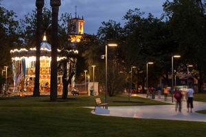 The Paseo and the Pereda Gardens