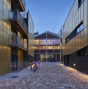 168 Rue de Crimée. Social housing for artists