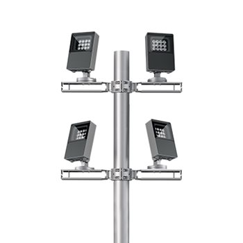 Pole / wall mounted multiple floodlights