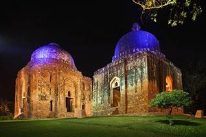 Illuminazione monumentale delle bellezze di Delhi